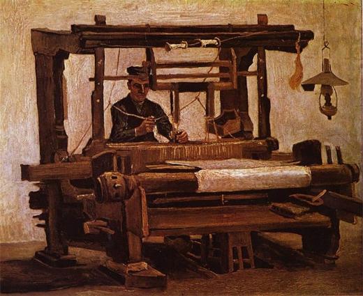 Tejedores en el telar. Vincent Van Gogh Van_go12