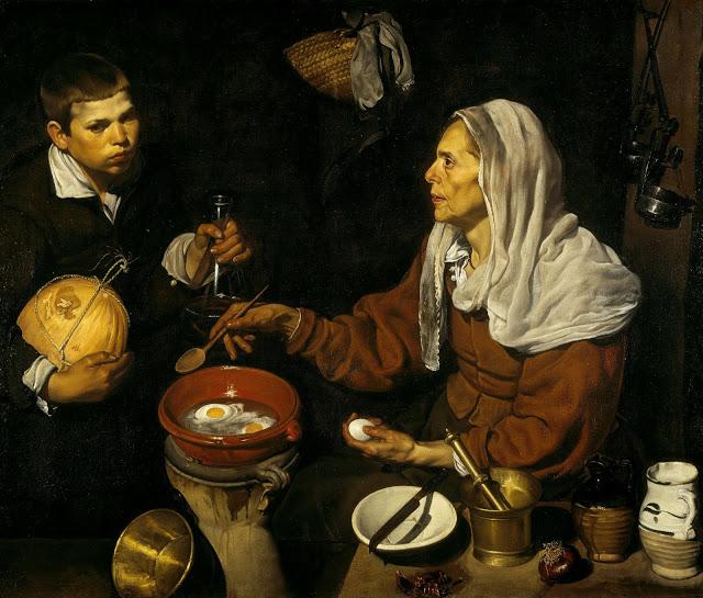 Vieja friendo huevos. Diego Velázquez Vieja-10