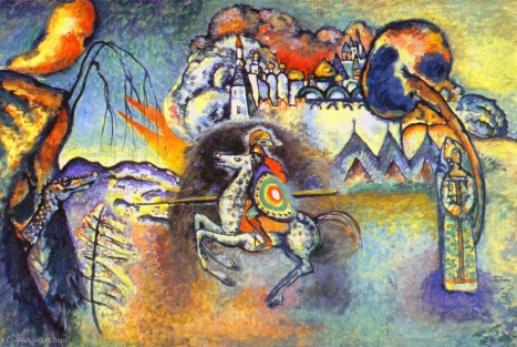 san george asícomo el dragón – Wassily Kandinsky Wassil12