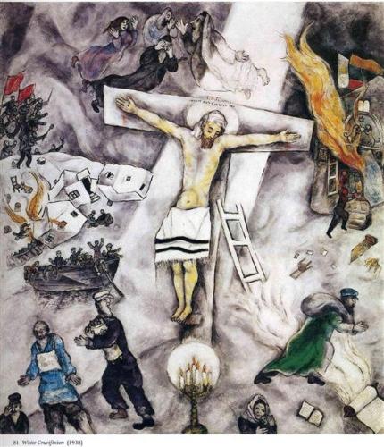 La crucifixion blanche. Marc Chagall White-10