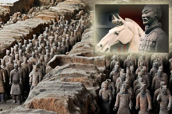Los Guerreros de Terracota, en China, esculturas. Xian-g10