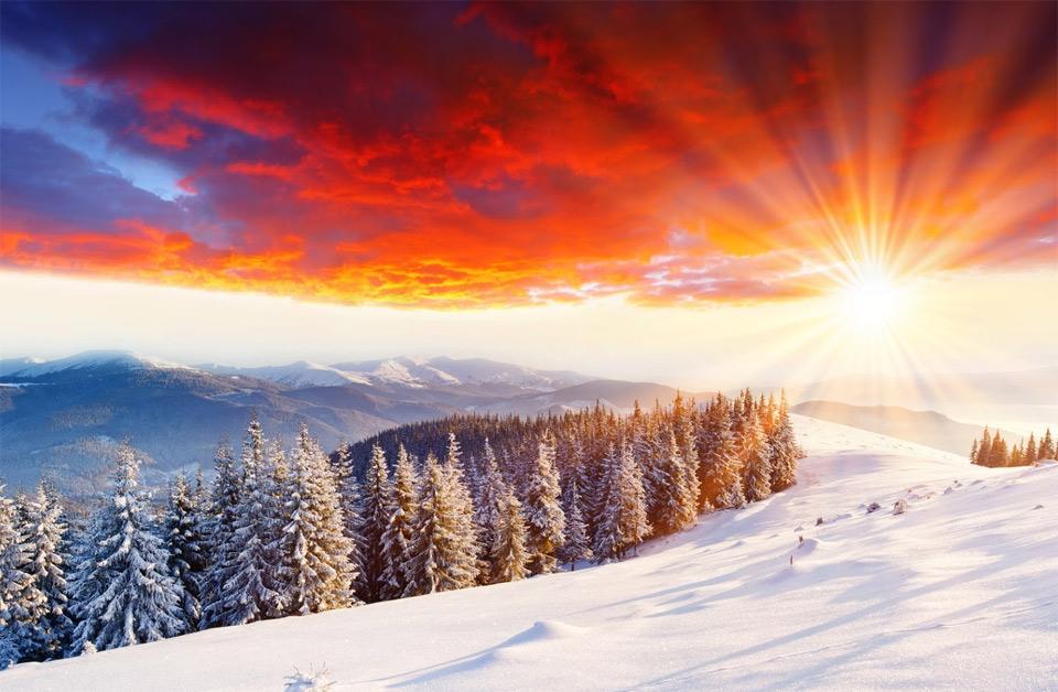 Zimski pejzaži-Winter landscapes - Page 4 Sunset35