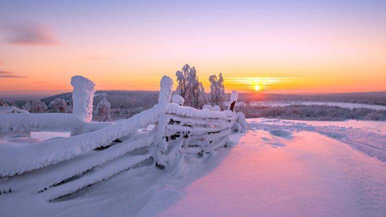 Zimski pejzaži-Winter landscapes - Page 21 Sunset55