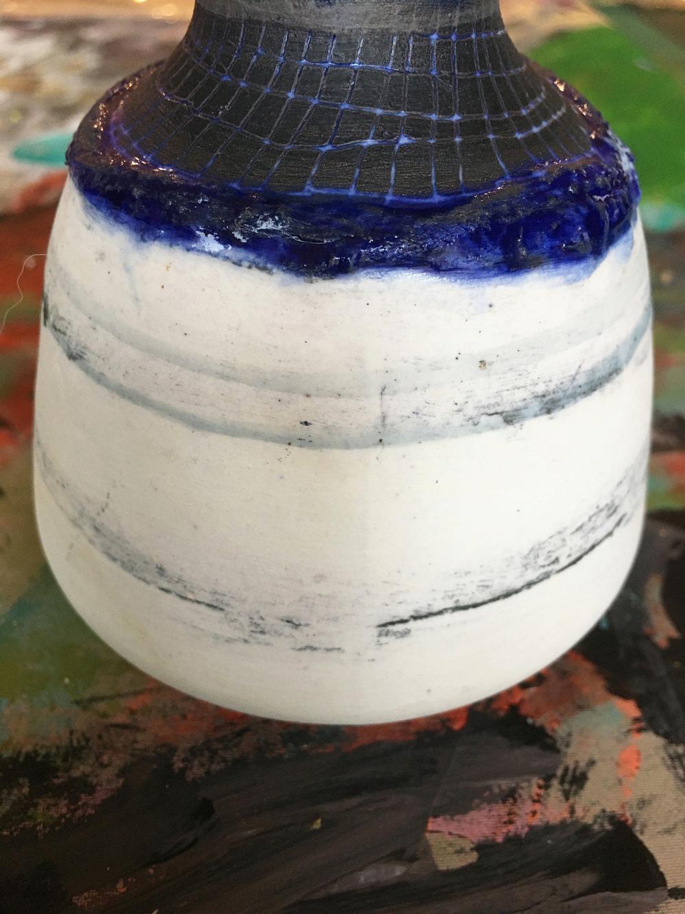 Small Vase, SE mark '91  Raku_211
