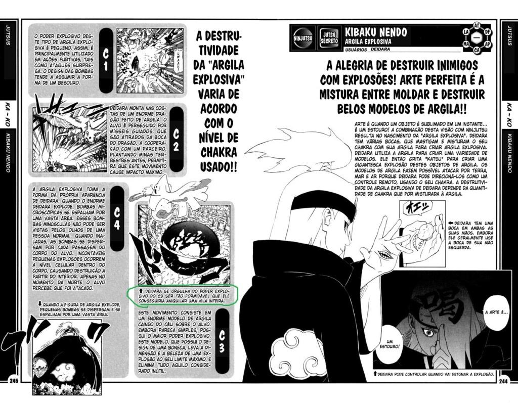 Roteiro em Sasuke vs. Deidara 244-2410