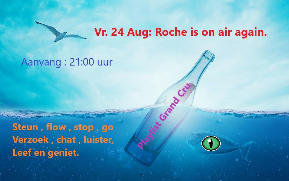 Roche on air again... Vr. 24 aug. Zeepos10