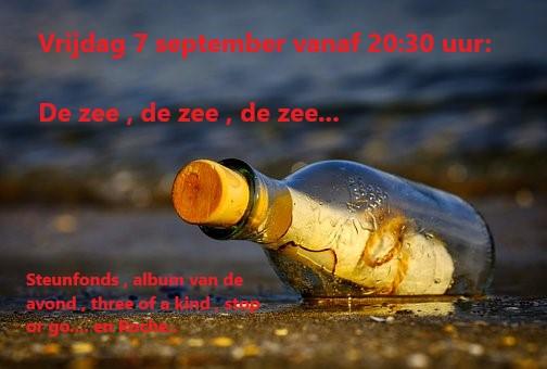 Vrijdag 7 sept: De zee , de zee , de zee Zeesho10
