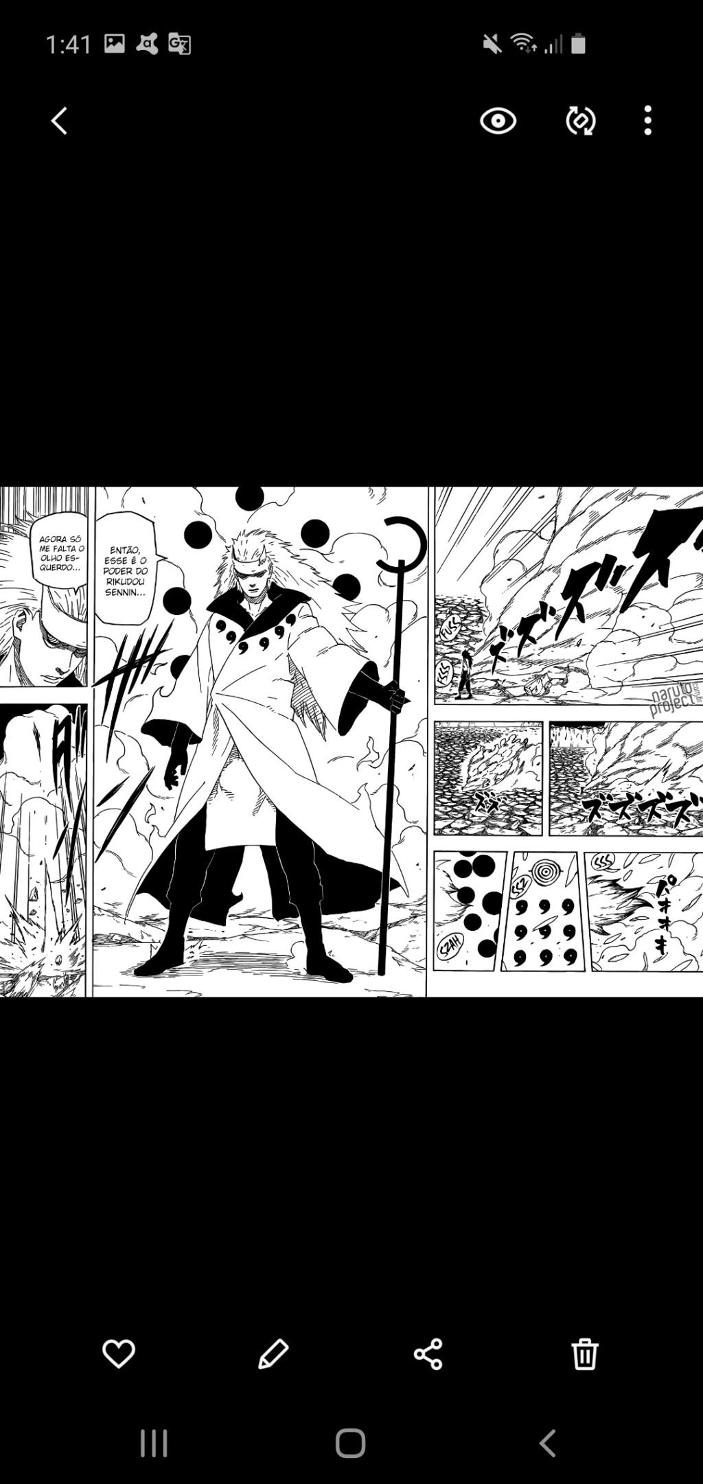 Naruto não tem mais o senjutsu do rikudou e posso provar Screen16