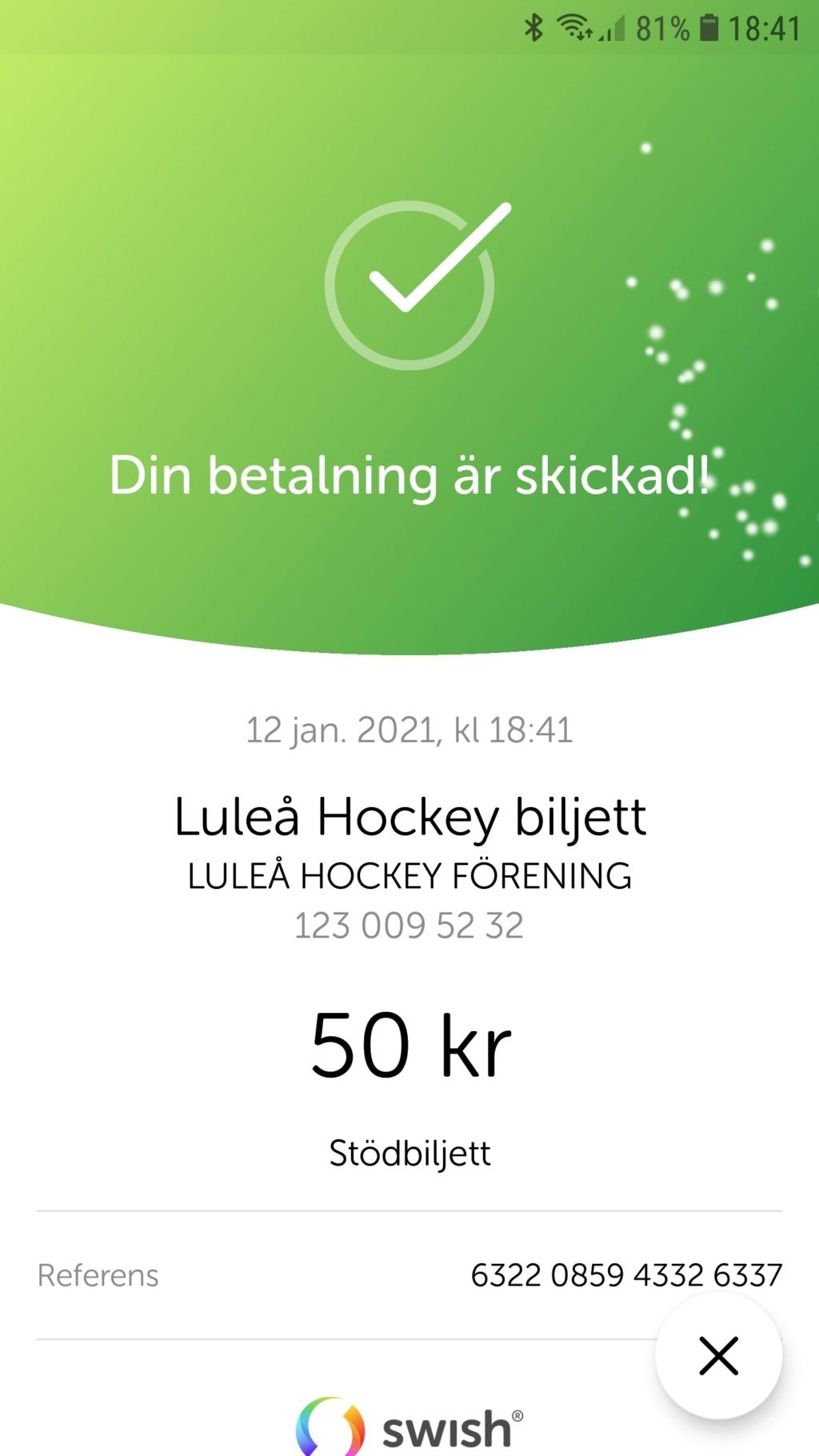 2021-01-12, SHL-match 30, Luleå - Linköping Screen10