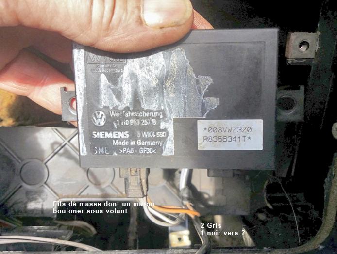 OLLIVIER GOLF 3 CABRIOLET 1.8L 75 CH 1995 anti demarrage  1-siem12