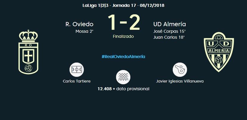J.17 LIGA 123 TEMPORADA 2018/2019 R.OVIEDO-UD ALMERIA (POST OFICIAL) 03118
