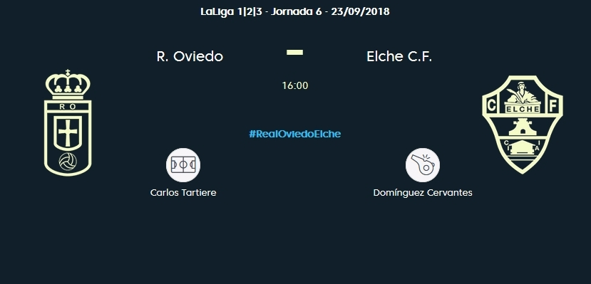 J.6 LIGA 123 2018/2019 REAL OVIEDO-ELCHE CF (POST OFICIAL) 0455