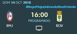 J.9 LIGA 123 2018/2019 RAYO MAJADAHONDA-R.OVIEDO (POST OFICIAL) 0470