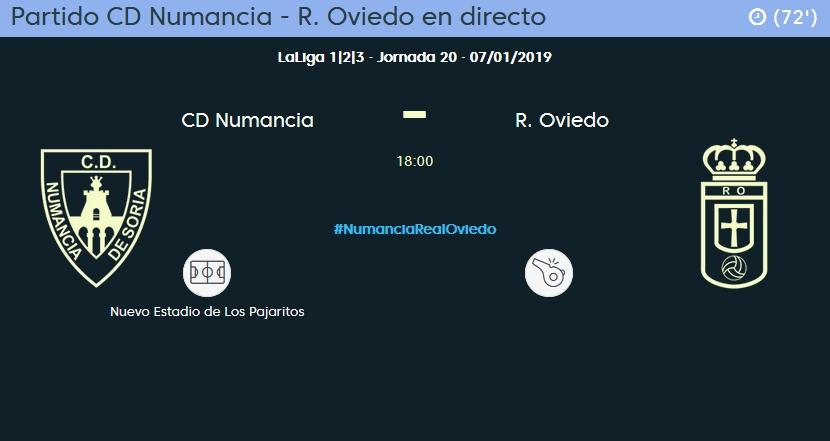 J.20 LIGA 123 TEMPORADA 2018/2019 CD NUMANCIA-R.OVIEDO (POST OFICIAL) 05116