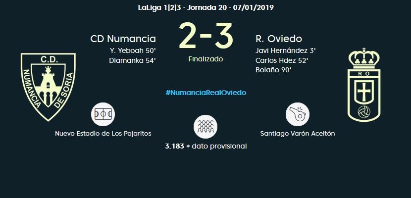 J.20 LIGA 123 TEMPORADA 2018/2019 CD NUMANCIA-R.OVIEDO (POST OFICIAL) 05119