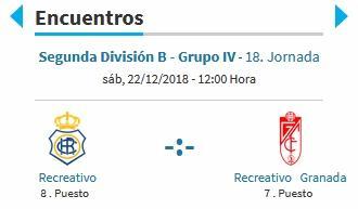 J.18 2ªB G.4º 2018/2019 RECRE-REC.GRANADA (POST OFICIAL) 08103