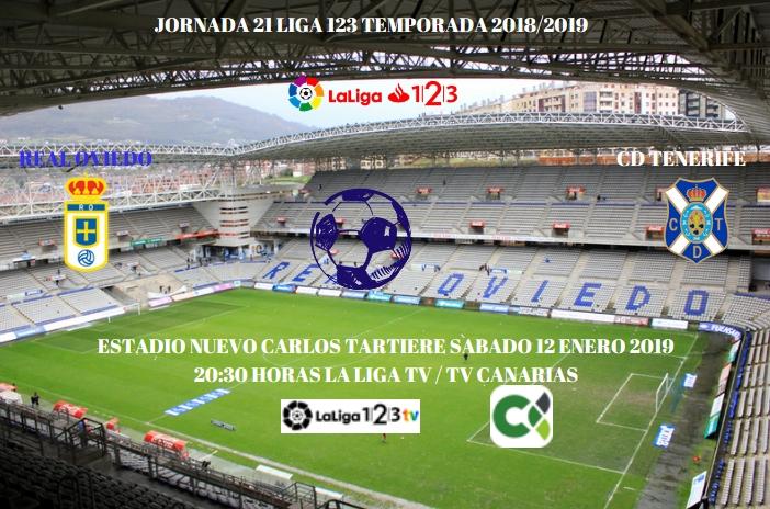 J.21 LIGA 123 TEMPORADA 2018/2019 REAL OVIEDO-CD TENERIFE (POST OFICIAL) 10103