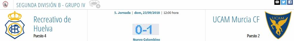 J.5 2ªB G.4º TEMP. 2018/2019 RECRE-UCAM MURCIA (POST OFICIAL) 1724