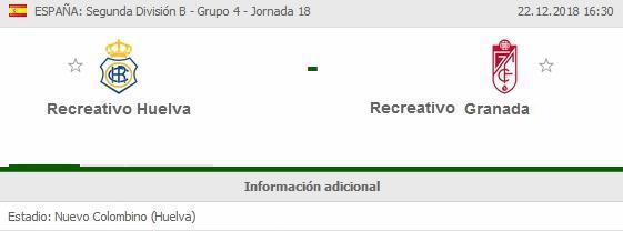 J.18 2ªB G.4º 2018/2019 RECRE-REC.GRANADA (POST OFICIAL) 1959
