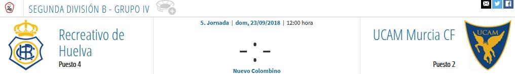 J.5 2ªB G.4º TEMP. 2018/2019 RECRE-UCAM MURCIA (POST OFICIAL) 2022