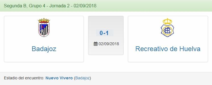 J.2 2ªB G.4º TEMP.18/19 CD BADAJOZ-RECRE (POST OFICIAL) 2710