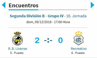 J.16 2ªB G.4º 2018/2019 RB LINENSE-RECRE (POST OFICIAL) 2836