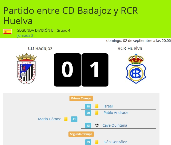 J.2 2ªB G.4º TEMP.18/19 CD BADAJOZ-RECRE (POST OFICIAL) 2910