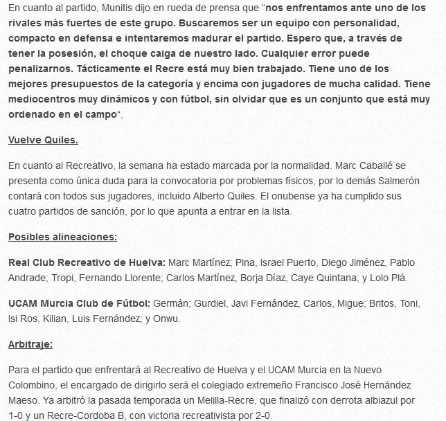 J.5 2ªB G.4º TEMP. 2018/2019 RECRE-UCAM MURCIA (POST OFICIAL) Captu345