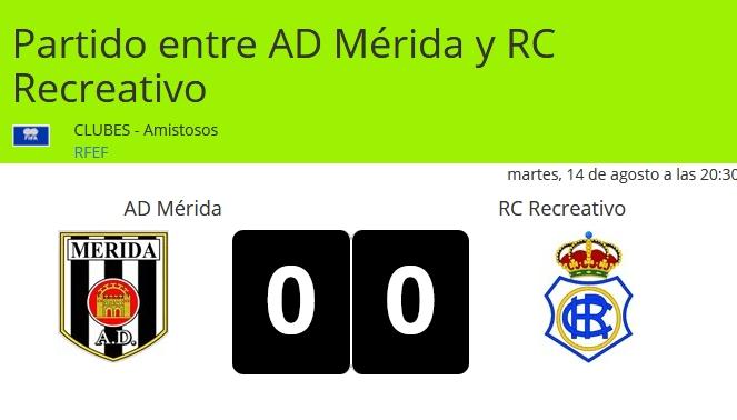 AD MERIDA 0-RECRE 0 PRESENTACION MERIDA 18/19 AMISTOSO Captur37