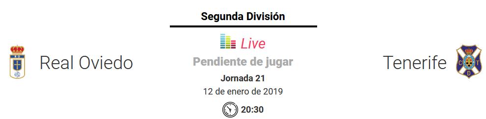 J.21 LIGA 123 TEMPORADA 2018/2019 REAL OVIEDO-CD TENERIFE (POST OFICIAL) Screen13