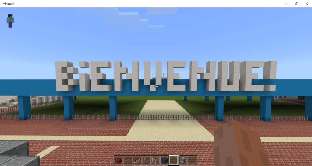 Projet : le Futuroscope sur Minecraft Minecr14
