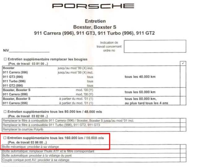 Comment vidanger l'huile de boite de vitesse - Tutoriel Boxster 986 Diapos14