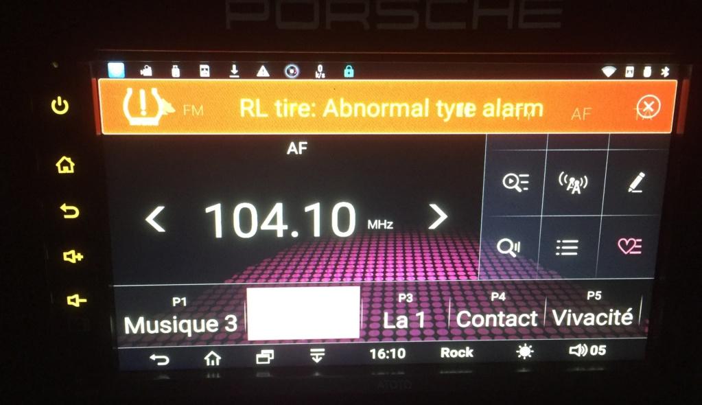 détection de sous-gonflage sur radio Androïd Tpms410