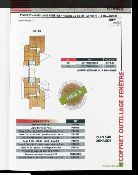 Outillage profil fenetre isolante Fenetr10