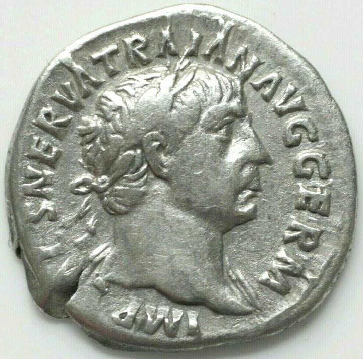 Denario de Trajano. PM TRP COS IIII PP. Roma 20190813
