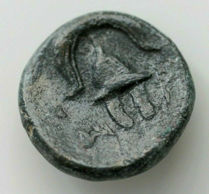 AE15 de Alejandro IV de Macedonia. Escudo macedonio y casco con cresta 20190817