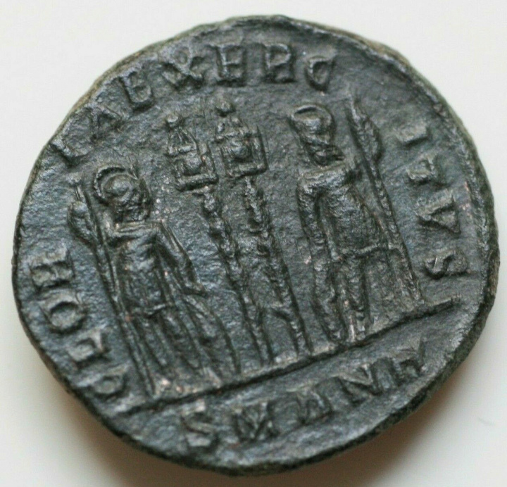 AE3 de Constancio II. GLORIA EXERCITVS. Antioquía 20191010