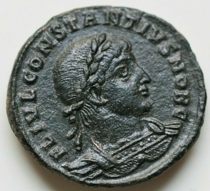 AE3 de Constancio II. GLORIA EXERCITVS. Antioquía 20191011