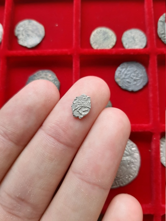 Kopek de alambre de plata de Pedro I el Grande. Rusia, 1711. 20200824