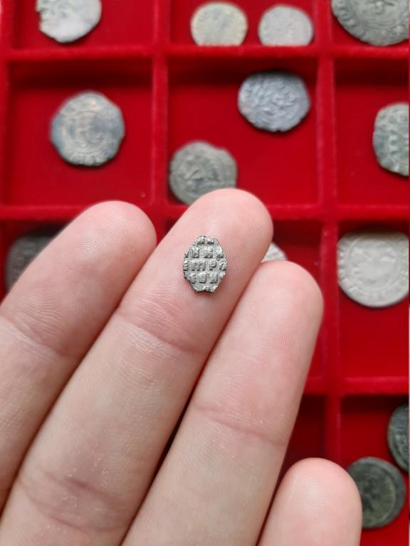 Kopek de alambre de plata de Pedro I el Grande. Rusia, 1711. 20200825
