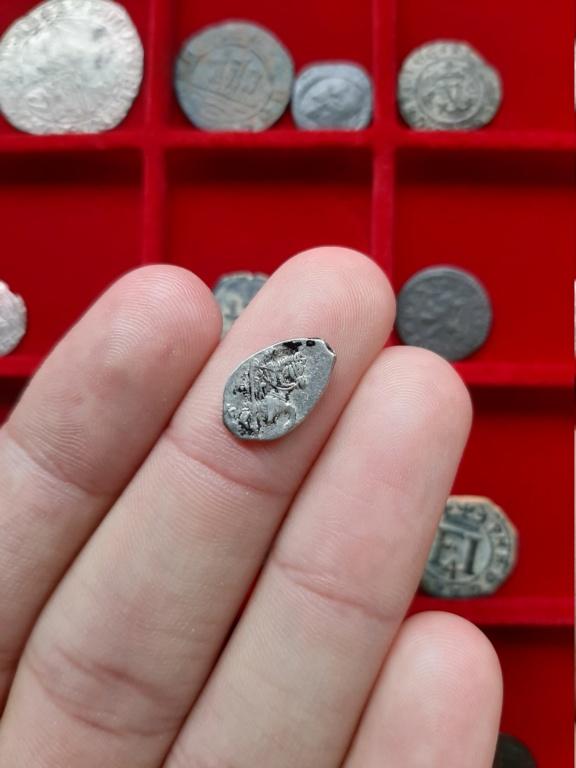 Kopek de alambre de plata de Teodoro II. Rusia, 1605. 20200839