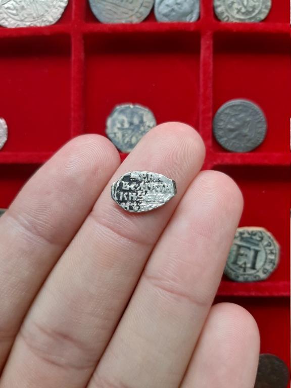 Kopek de alambre de plata de Teodoro II. Rusia, 1605. 20200840