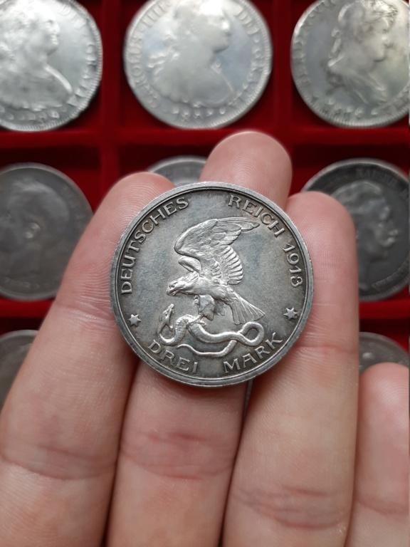 Imperio Alemán, 3 Marcos 1913 Conmemorativa 20201013