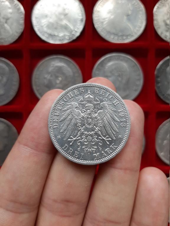 Imperio Alemán, 3 Marcos 1913. Conmemorativa 25 años de reinado de Guillermo II. 20201021