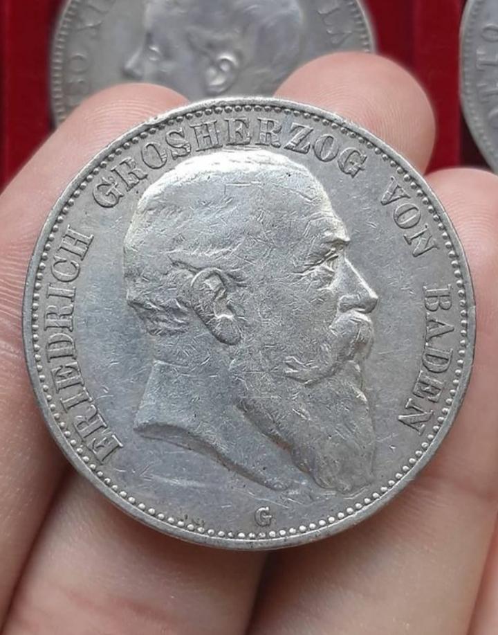 Gran Ducado de Baden. 5 Mark, 1902 G. Federico I. 20210344