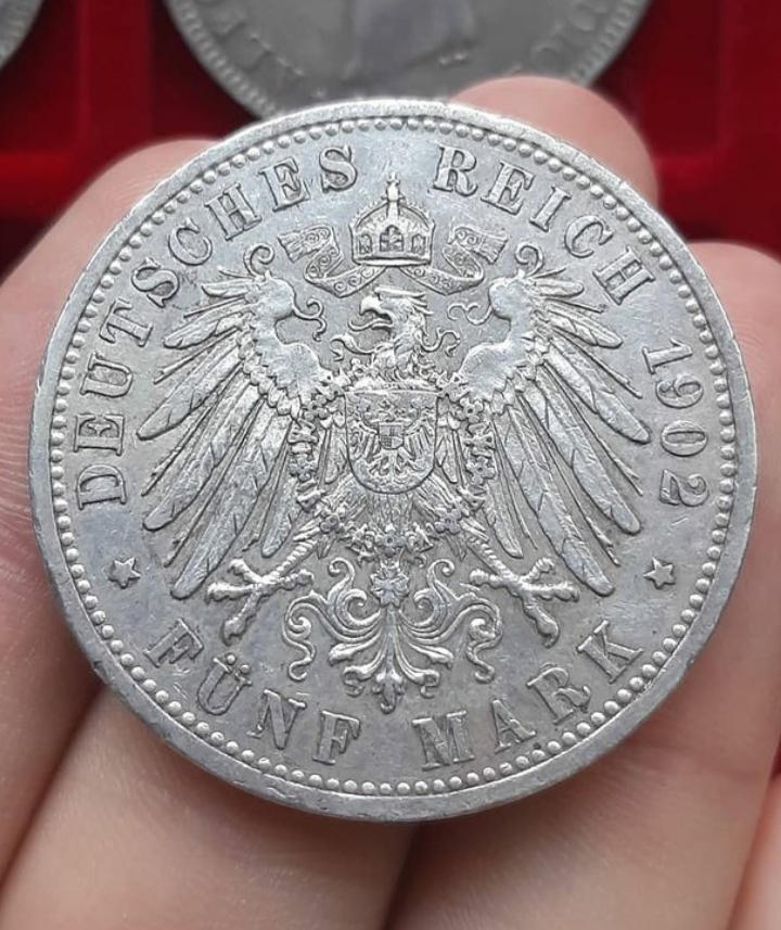Gran Ducado de Baden. 5 Mark, 1902 G. Federico I. 20210345