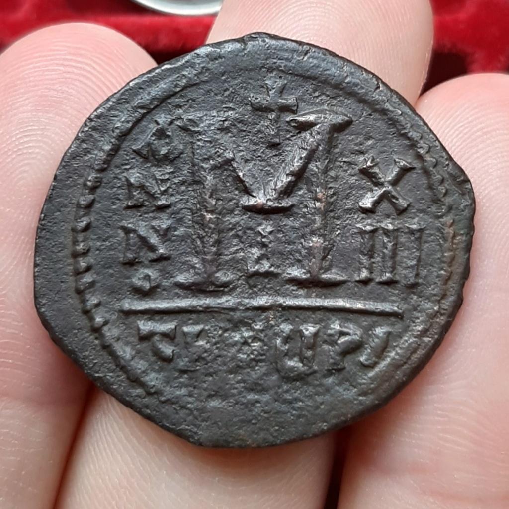 40 Nummi de Mauricio Tiberio. Anno XIII. Antioquía. 20210413