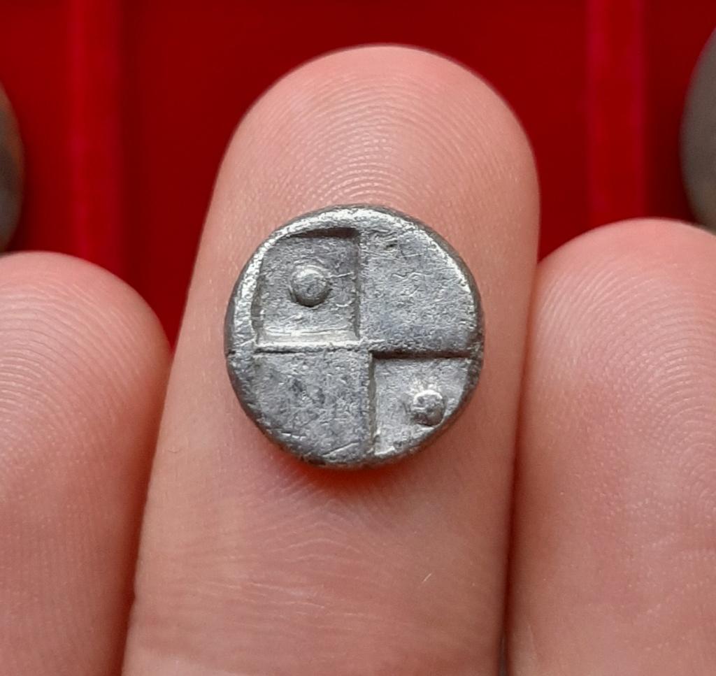 Didracma de Cardia, Quersoneso Tracio. 350 a.C. Prótome de león 20210611