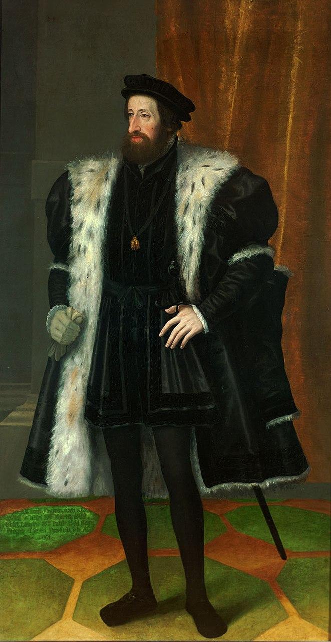 Denar del Reino de Hungría, 1528. Fernando I de Habsburgo 661px-10