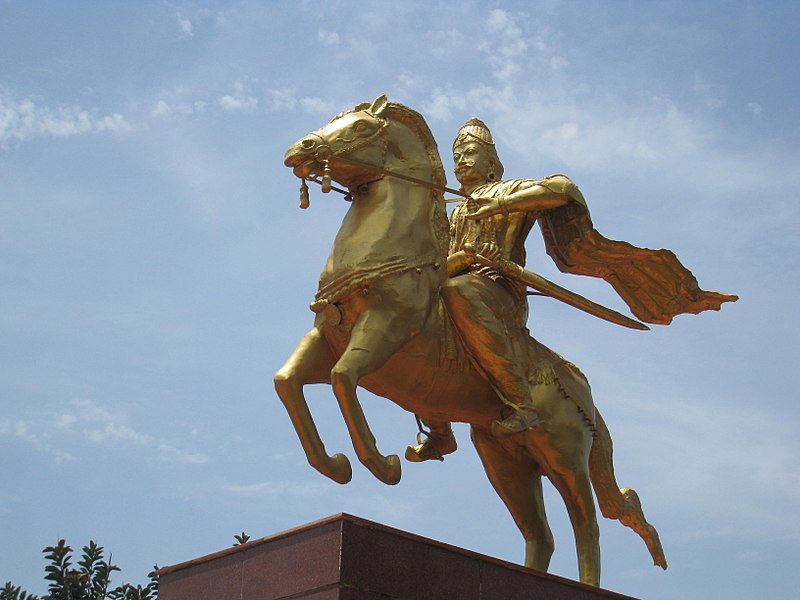 Kasu de cobre del Imperio Chola, Rajaraja I Chola (985-1014) 800px-12